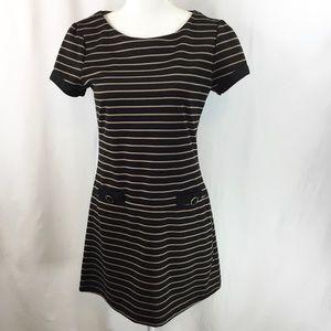 Atmosphere Size 10 Drop Waist Black & Tan Stripes